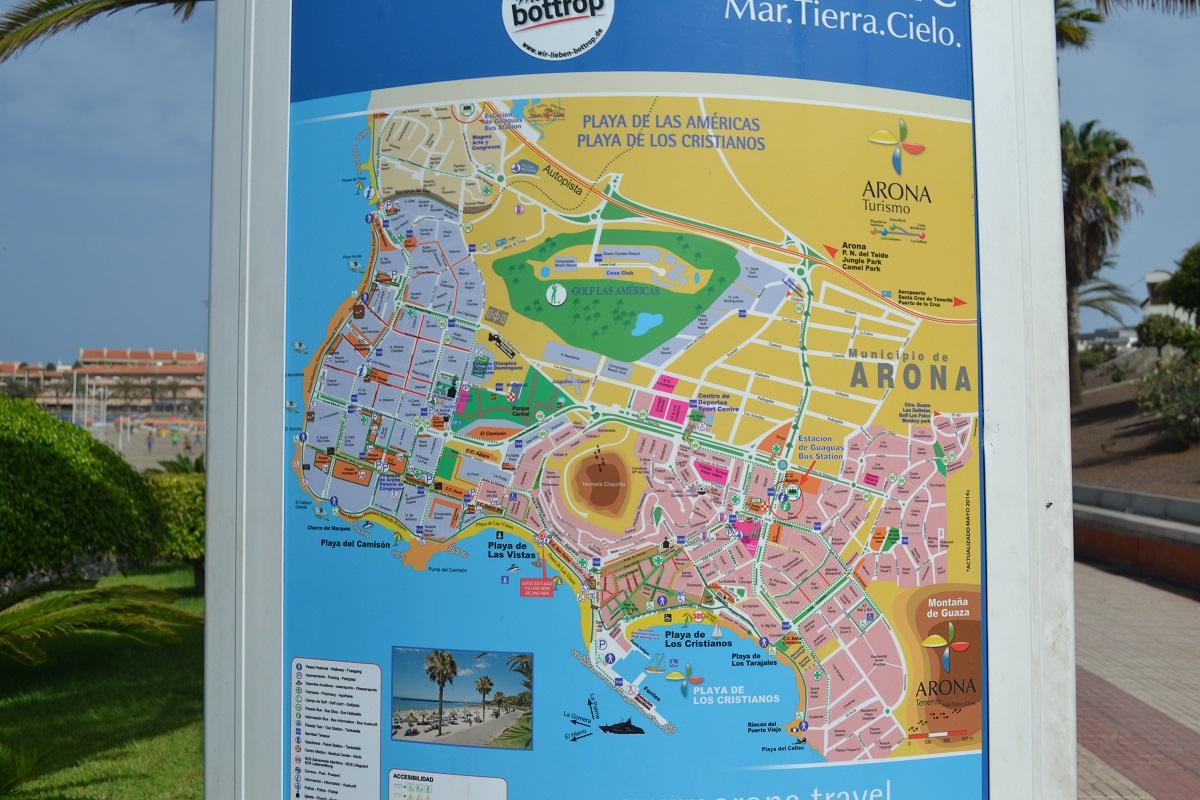 Map Of Playa De Las Americas Tenerife America Map