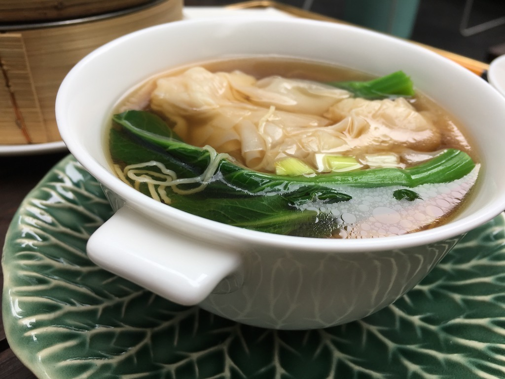 Coconut Noodle Soup With Tea-Smoked Shrimp Recipe — Dishmaps