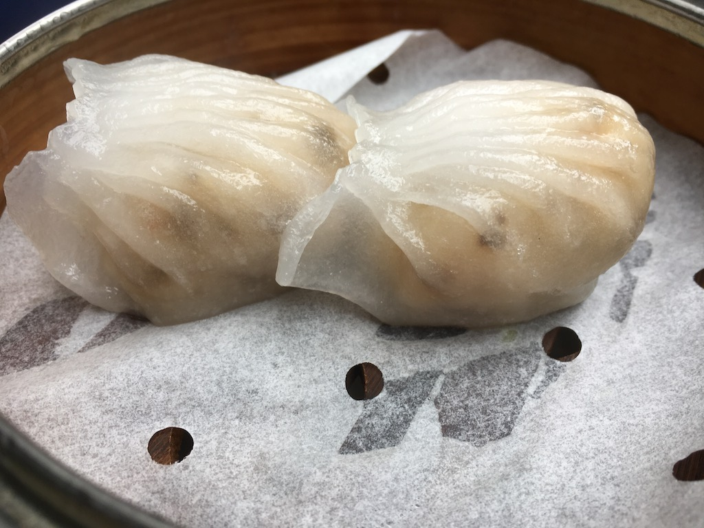 Durrell's dim sum shrimp dumpling morel mushroom