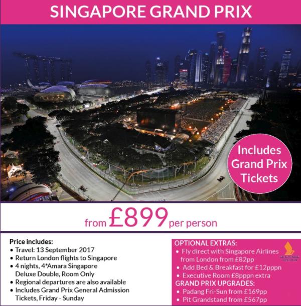 Singapore F1 Offer