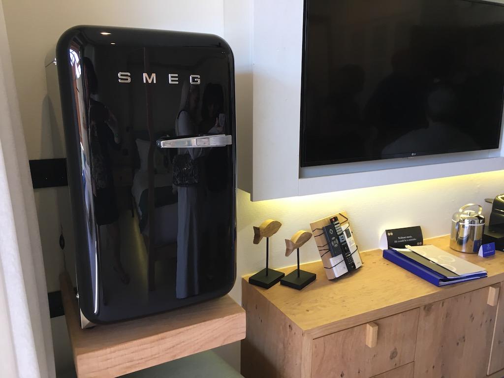 Smeg fridge & entertainment Domes Noruz