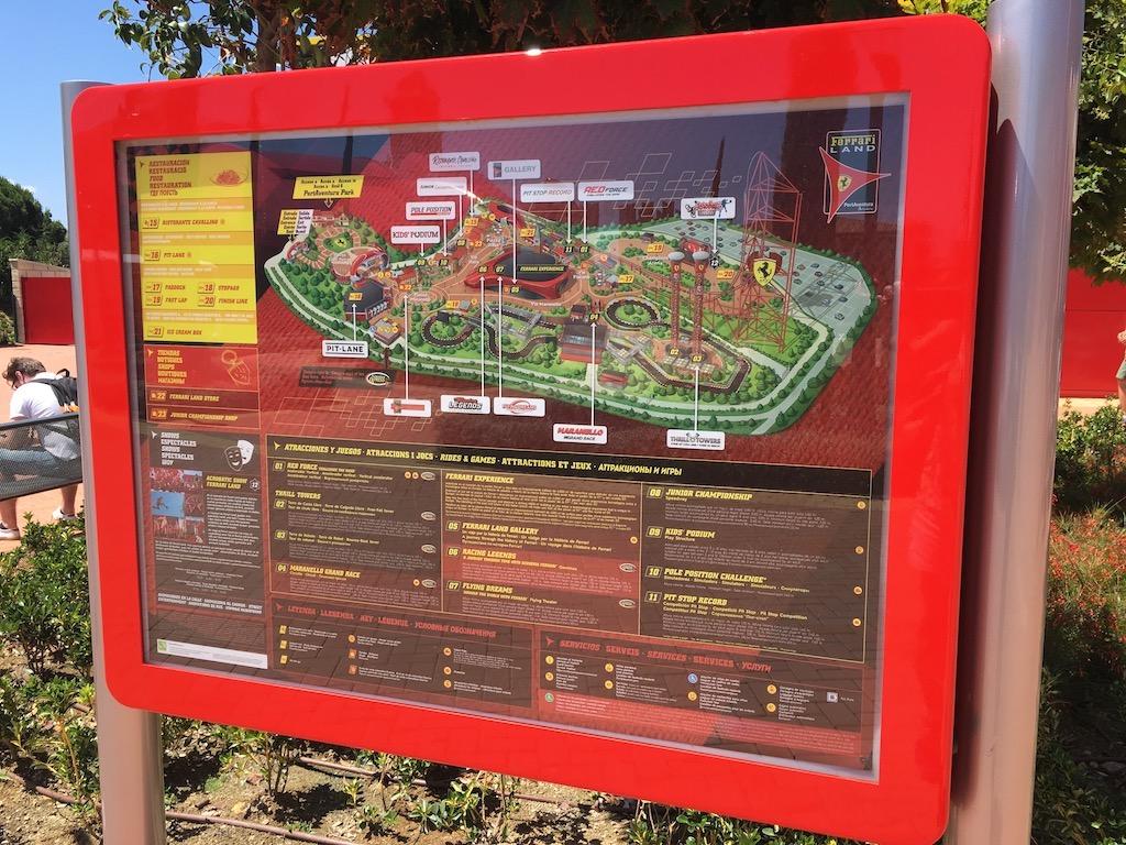 Ferrari Land Spain Map