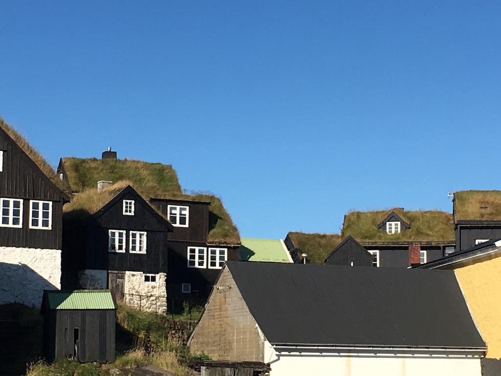 Tarred & turfed houses of Tinganes in Tórshavn