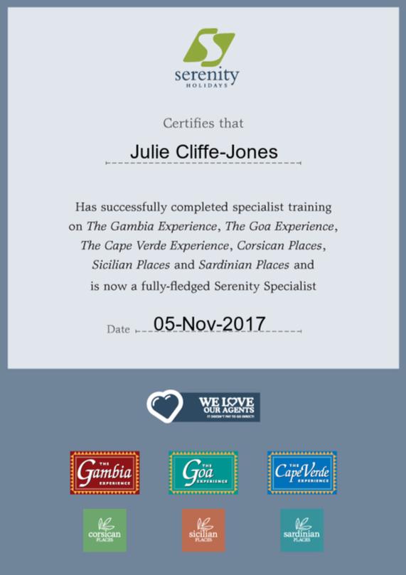 Serenity Expert Certificate