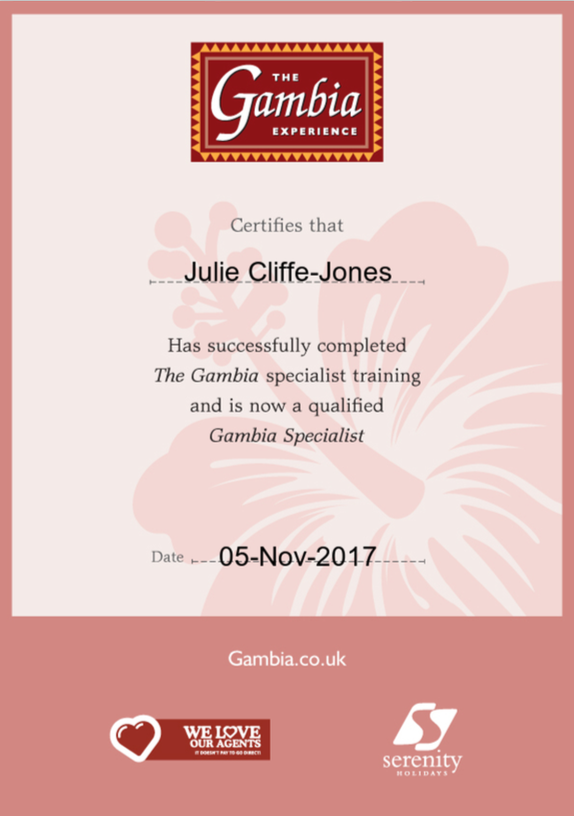 The Gambia Certificate