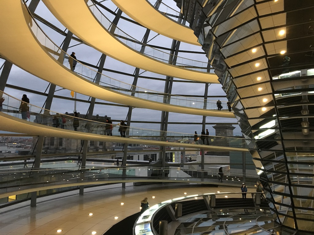 Inside the Reichstag Dome