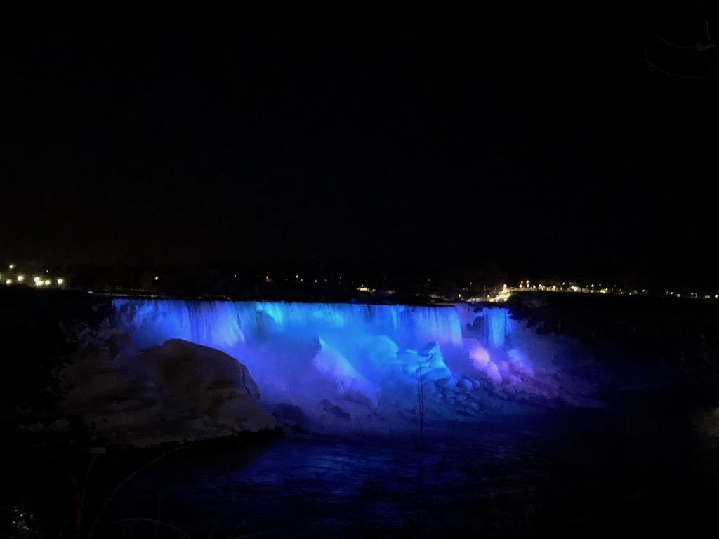American Falls Illuminated