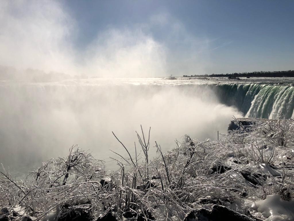 Frozen Horsehoe Falls Niagara