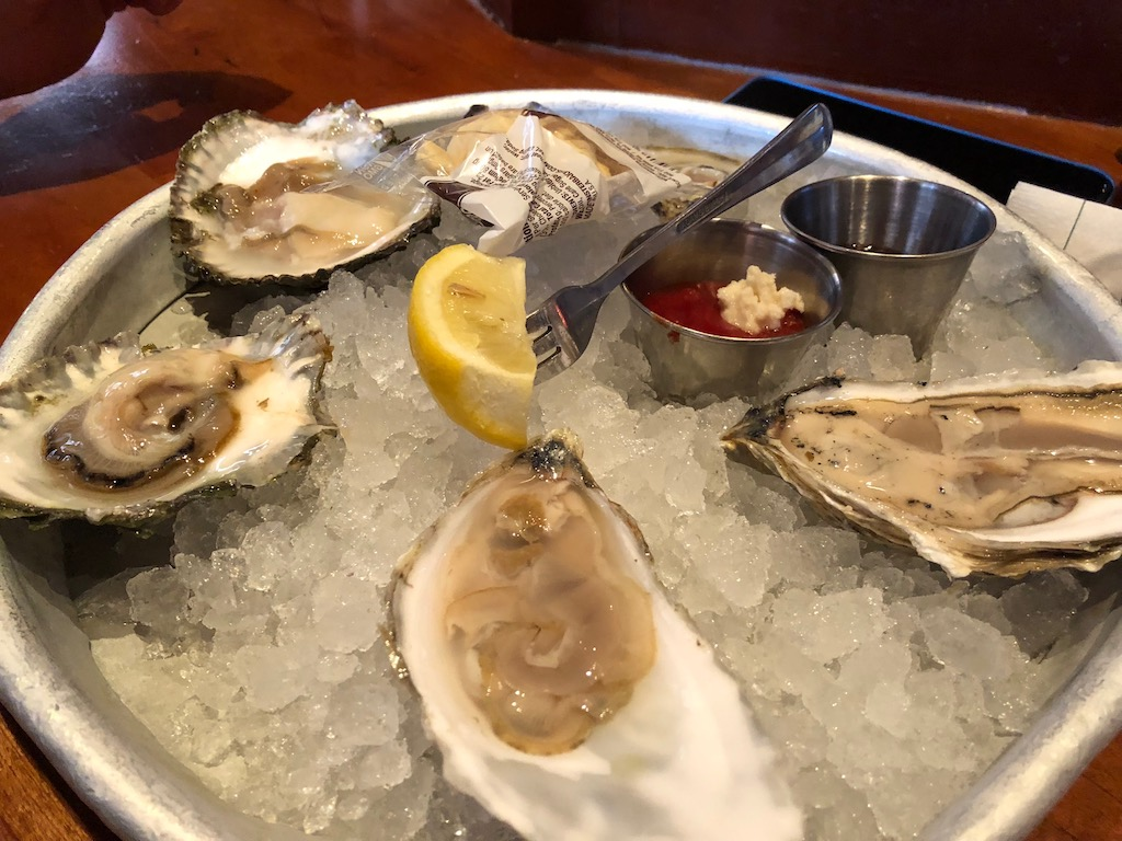 Oysters at Clydes Downtown Washington DC