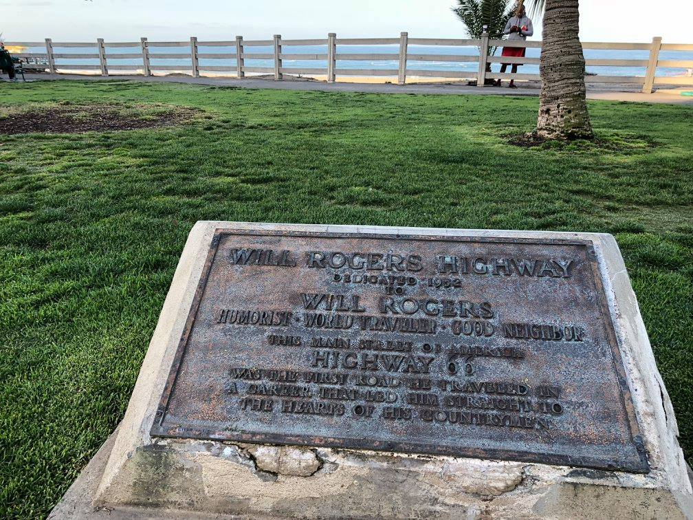 Route 66 Will Rogers Plaque
