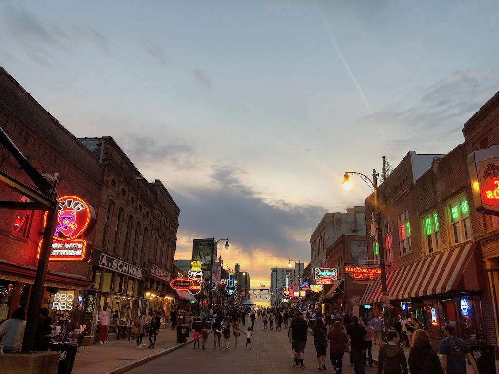 Beale Street Downtown Memphis