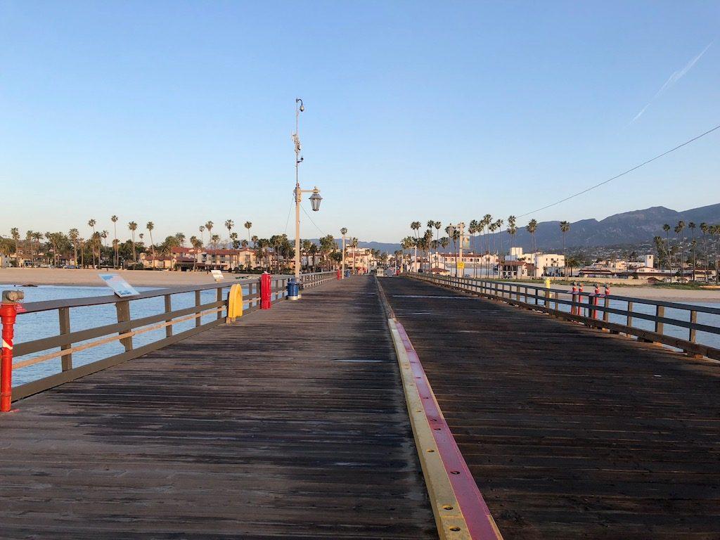 Santa Barbara from the pier at Stearns Wharf