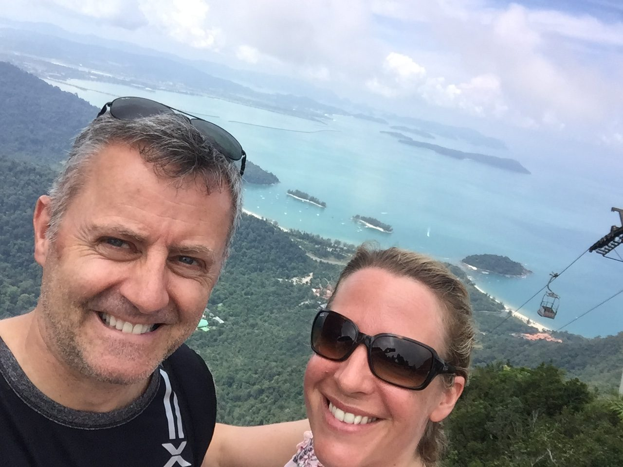 Mr & Mrs McGillion from the SkyCab Machincang Mountain