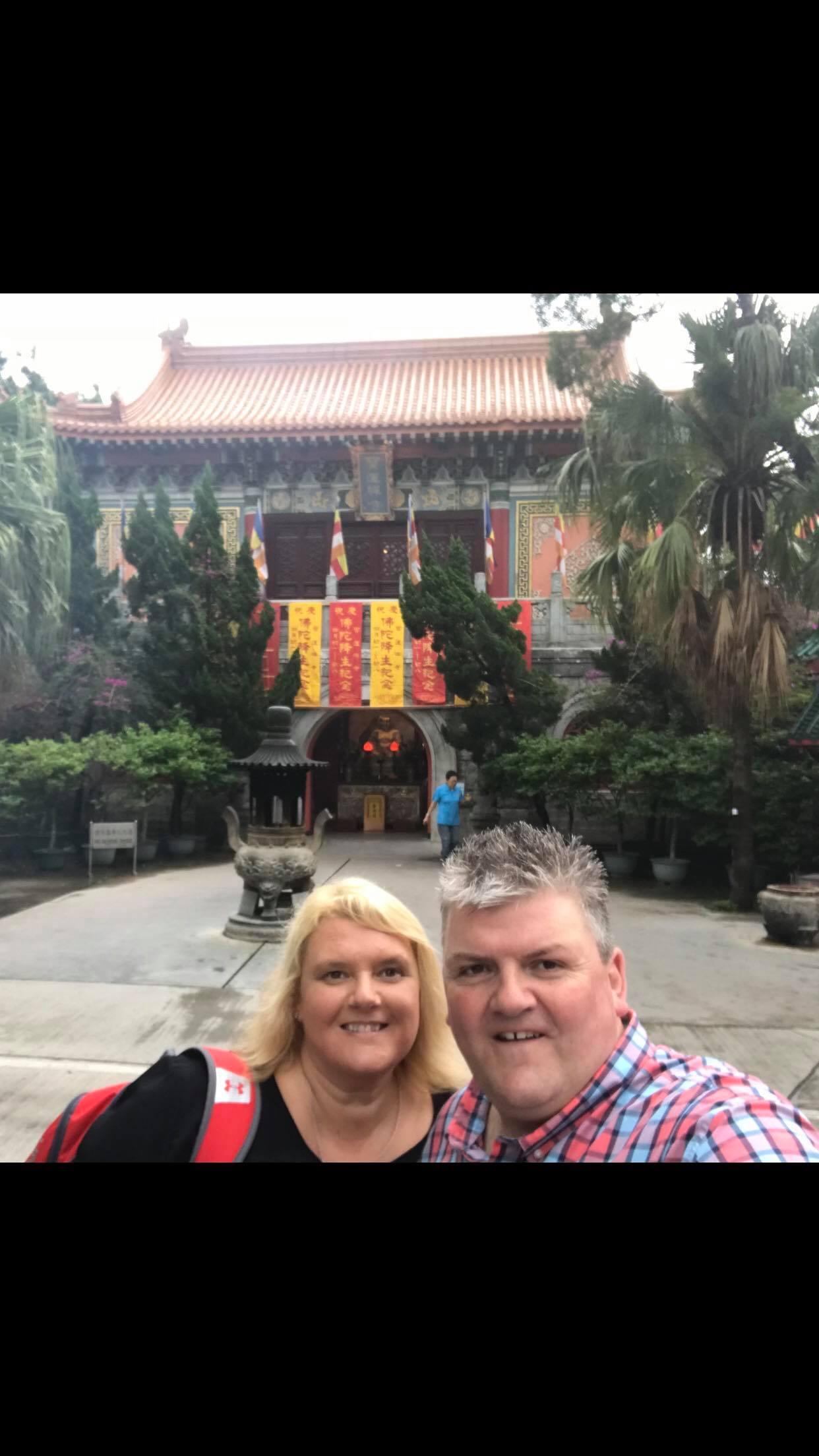 Mr & Mrs Roberts Lantau Monastery Hong Kong