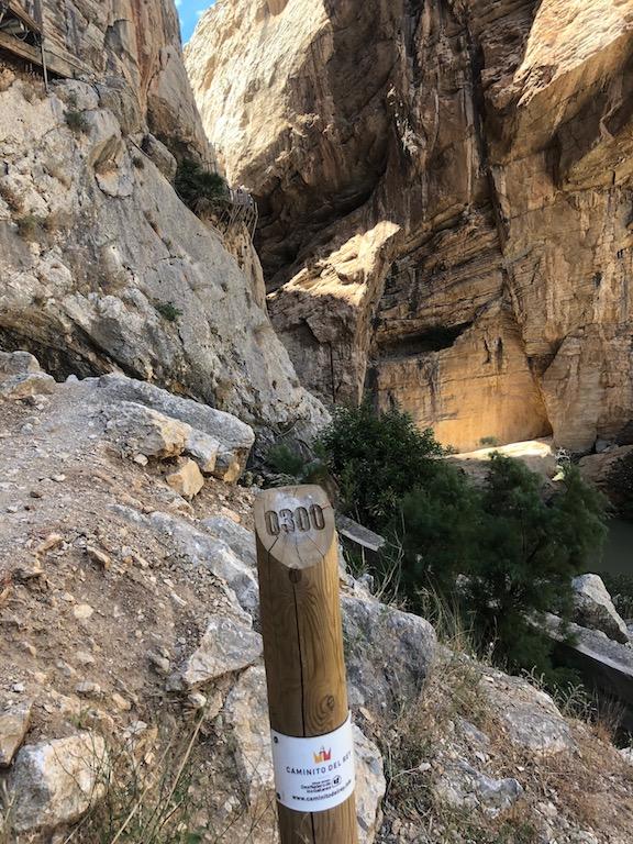 Caminito del Rey 300m marker