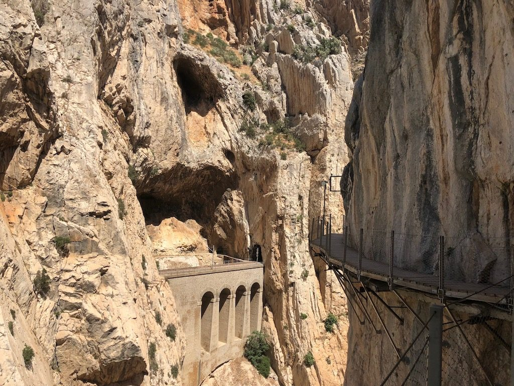 Caminito del Rey boardwalk & railway viaduct