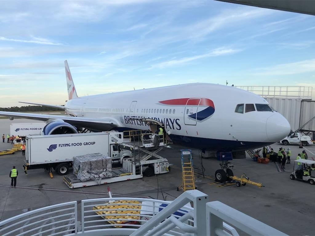 British Airways Boeing 777 Orlando MCO Airport