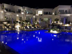 Lani's Suites Pool by Night