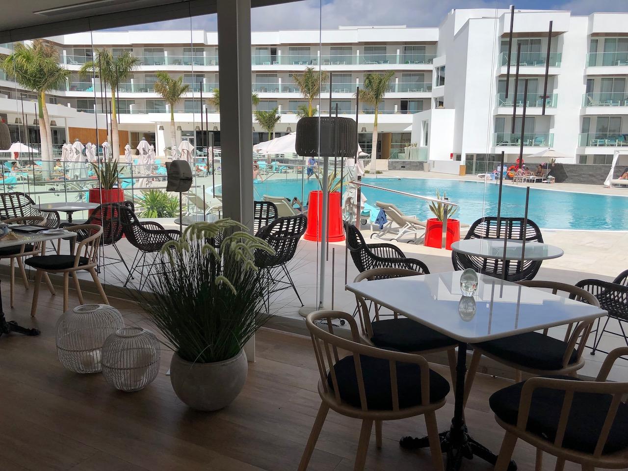 Lava Beach Hotel Aroma Restaurant view