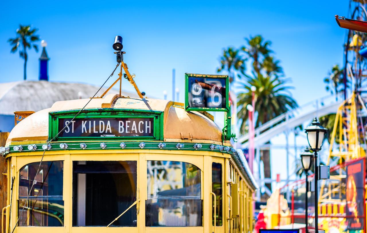 Australia Melbourne St Kilda Beach Tram