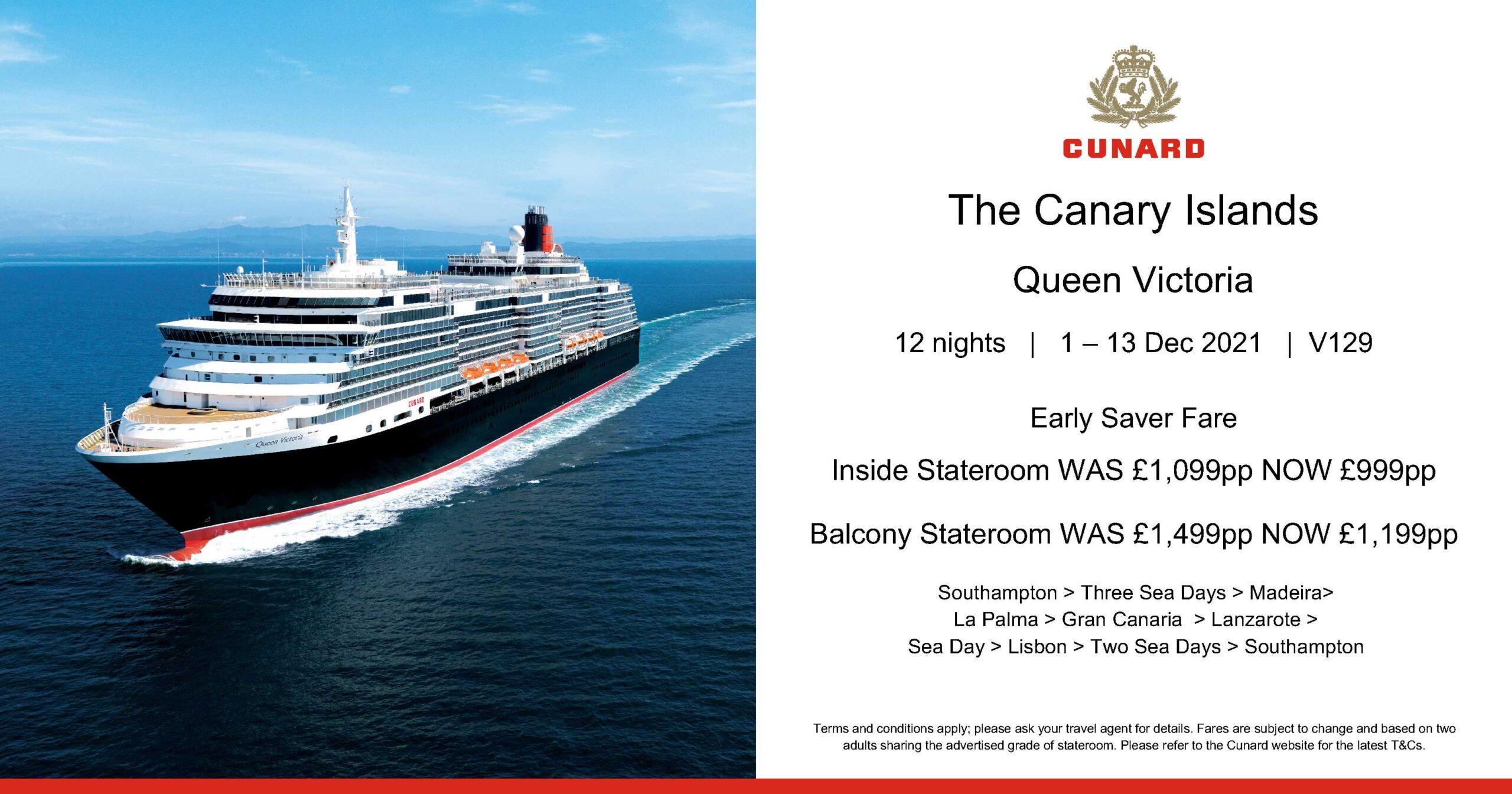 Cunard cruise Canary Islands