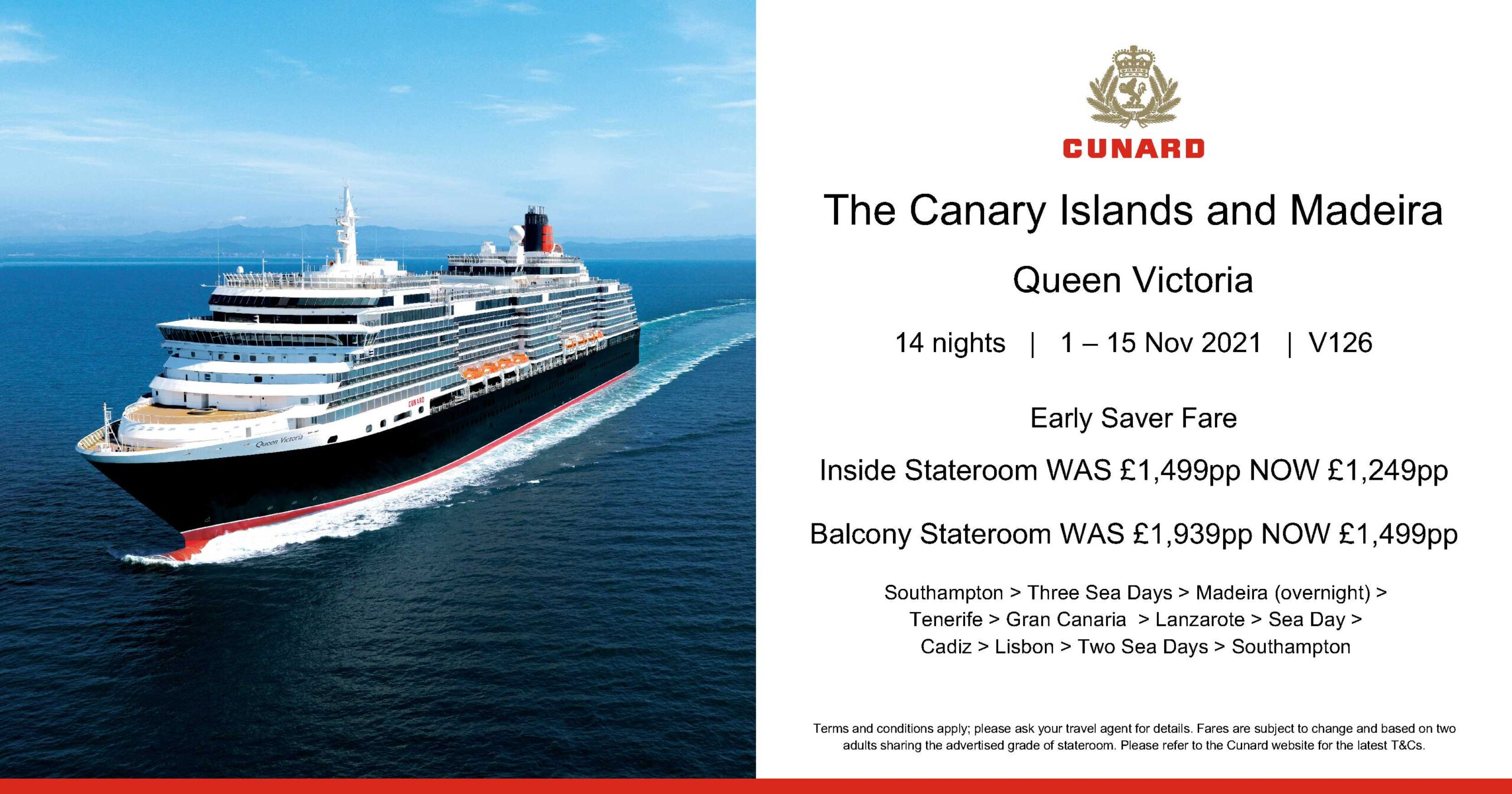 Cunard cruise Spain & Madeira