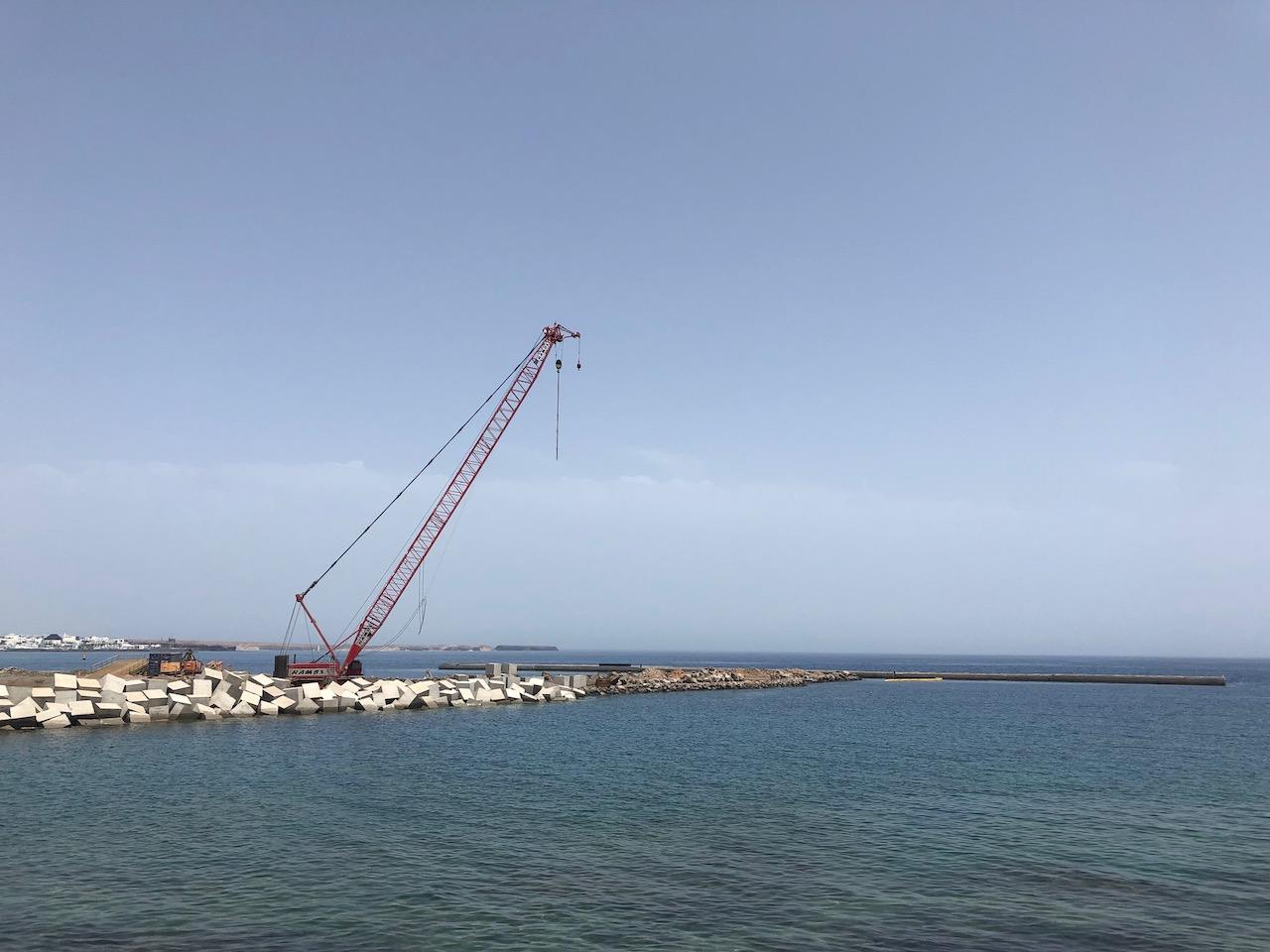 Building work in Playa Blanca