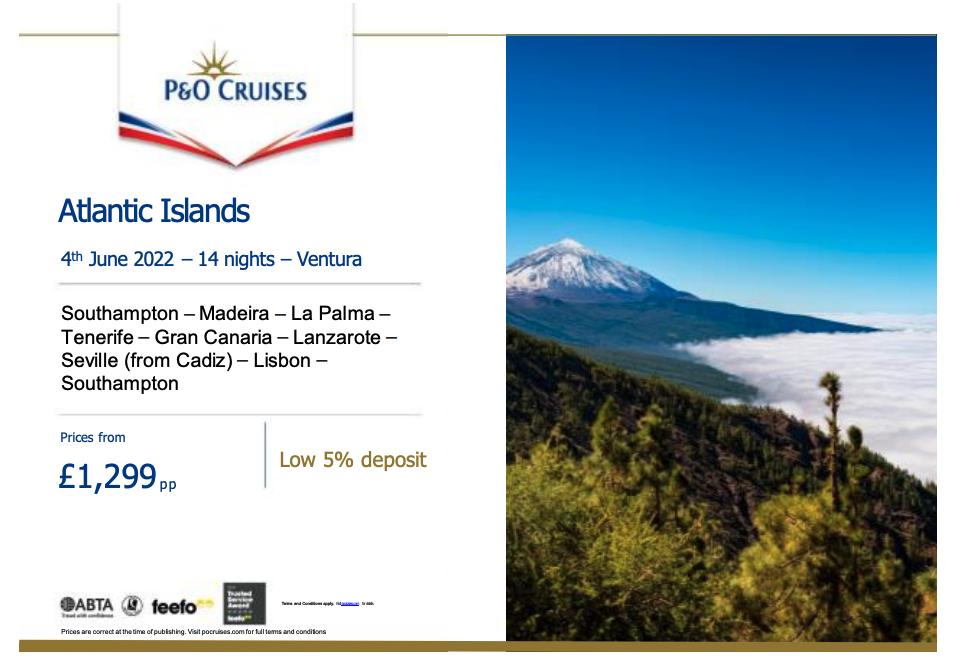 P&O Cruises Canary Islands