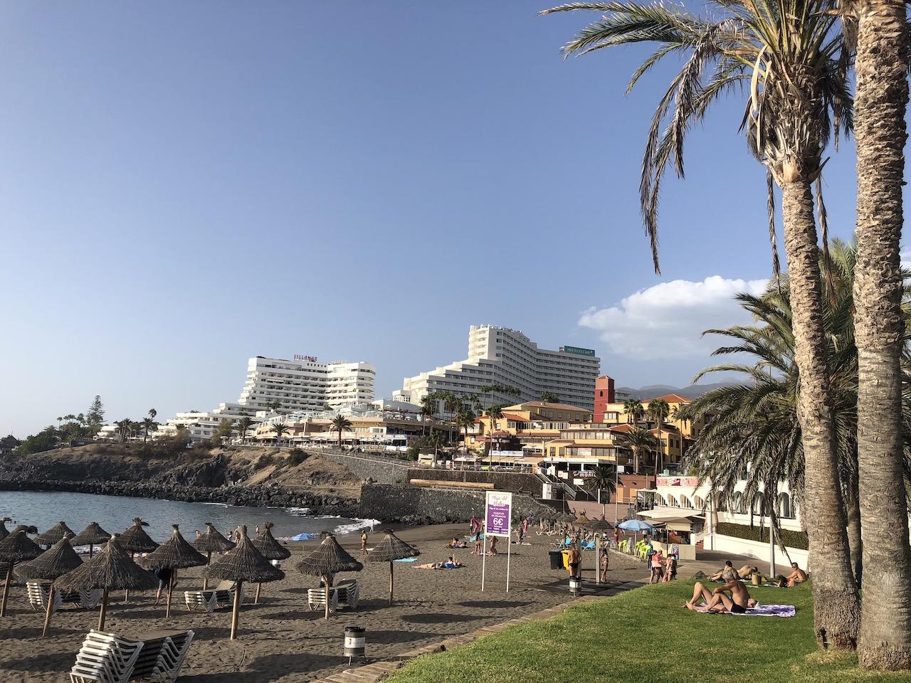 Iberostar Bouganville Playa hotel from Bobo beach