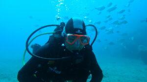 Julie try dive