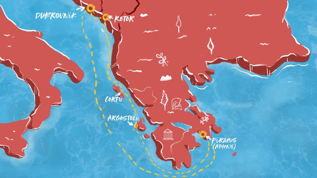 Virgin Voyages Resilient Lady Adriatic Sea Map