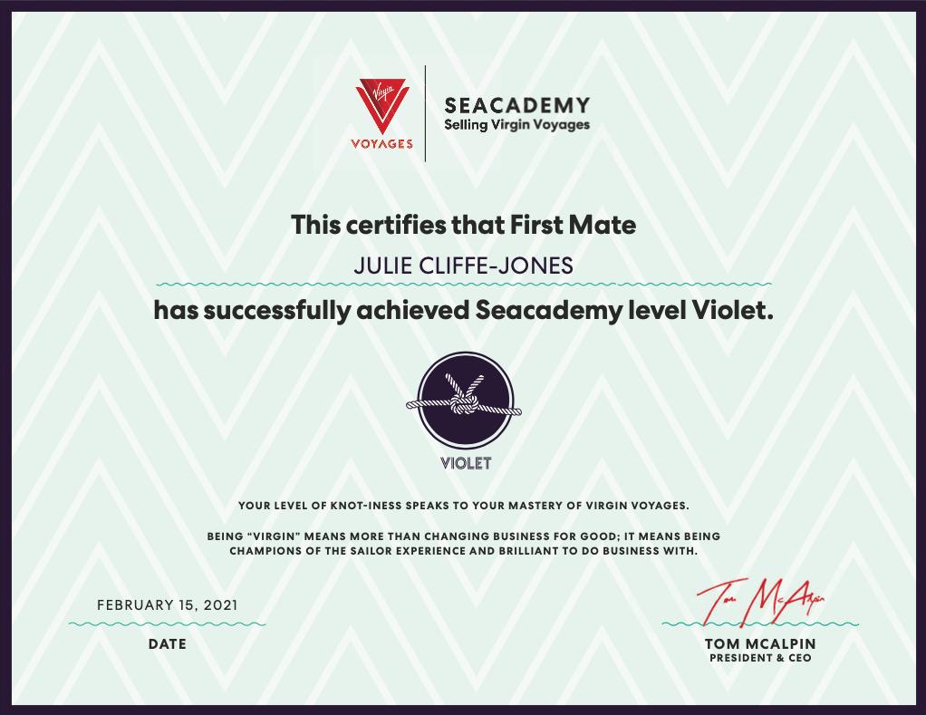 Virgin Voyages Certificate